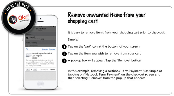 Week 5 _ Remove unwanted items from your shopping cart