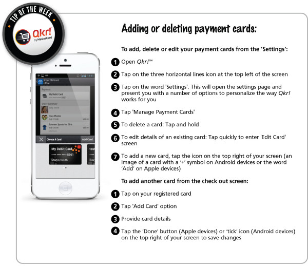 Week 11 _ Adding or deleting payment cards