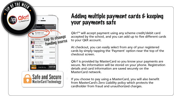 Week 12 _ Adding multiple cards and keeping your payments safe